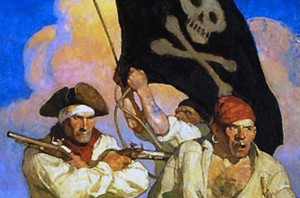 Cover Illustration for Treasure Island, N.C. Wyeth
