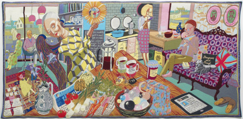 The Annunciation of the Virgin Deal, 2012, Grayson Perry, Woven tapestry in wool, silk, cotton, acrylic and polyester, Currell Collection